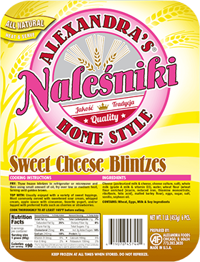 Nalesniki Sweet Cheese Blintzes